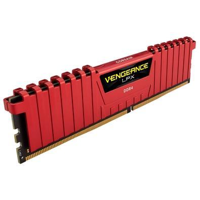 Memória Corsair Vengeance LPX 32GB (2x16GB) 3200Mhz DDR4 C16 Red - CMK32GX4M2B3200C16R