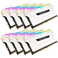 Memória Corsair Vengeance RGB Pro 128GB (8x16GB) 3200MHz DDR4 C16 White - CMW128GX4M8C3200C16W