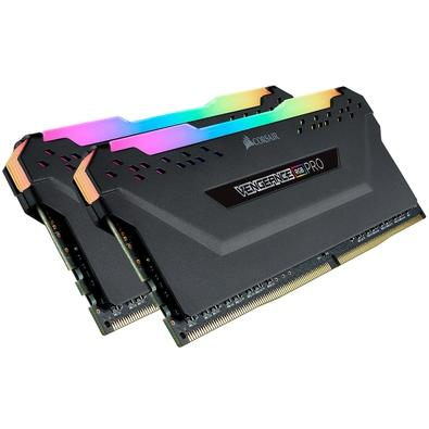 Memória Corsair Vengeance RGB Pro 16GB (2x8GB) 2933MHz DDR4 C16 Ryzen Black - CMW16GX4M2Z2933C16