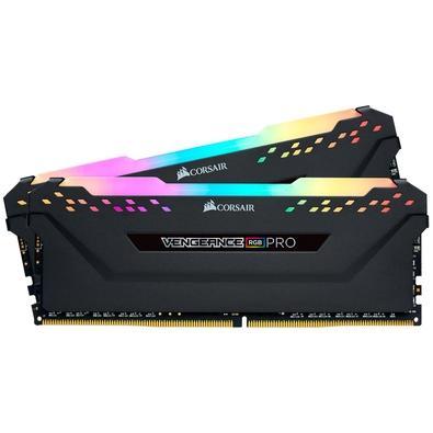 Memória Corsair Vengeance RGB Pro 64GB (2x32GB) 2666MHz DDR4 C16 Black - CMW64GX4M2A2666C16