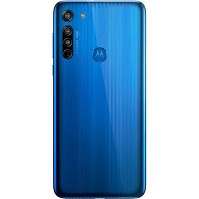 Smartphone Motorola Moto G8, 64GB, 16MP, Tela 6.4´, Azul Capri + Capa Protetora - PAHK0004BR