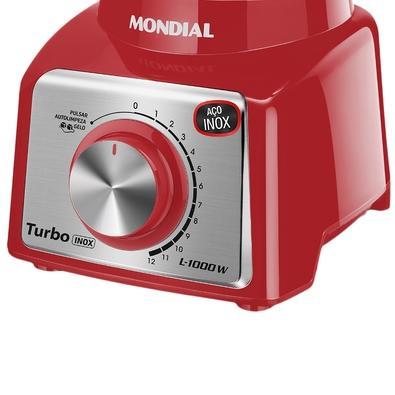 Liquidificador Mondial L-1000, 12 Velocidades, 1000W, 110V, Vermelho - L-1000 RI
