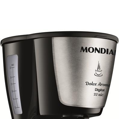 Cafeteira Elétrica Mondial Doce Arome Digital, 32 Xícaras, 800W, 110V, Inox - C-31 DG 32X
