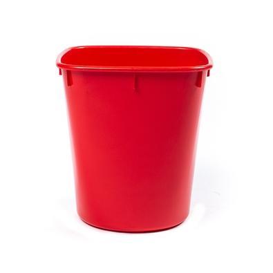 Cesto de Lixo Cônico Menno, Plástico, Vermelho