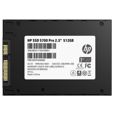 SSD HP S700 Pro, 512GB, SATA, Leituras: 565Mb/s e Gravações: 520Mb/s - 2AP99AA#ABL