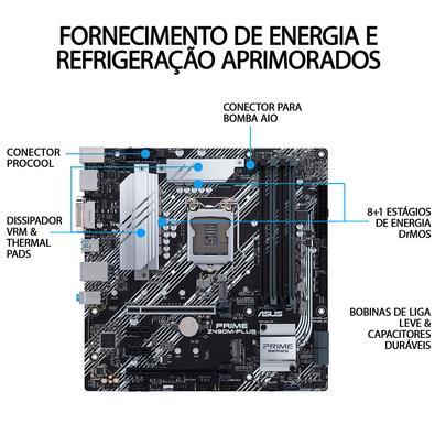 Placa-Mãe Asus Prime Z490M-Plus, Intel LGA 1200, mATX, DDR4