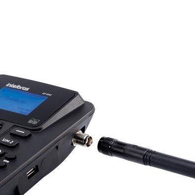 Telefone Celular Fixo Intelbras CF 4202, Desbloqueado, Preto - 4114202