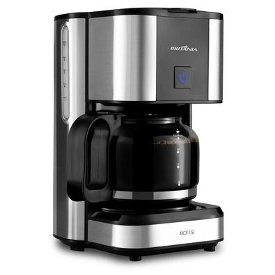 Cafeteira Elétrica Britânia BCF15I, 15 Xícaras, 550W, 220V, Preto/Inox - 63902106