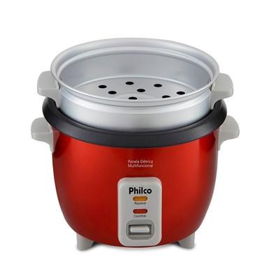 Panela Elétrica Multifuncional Philco PPA3V, 1.7 Litros, 220V, Vermelha - 56402066