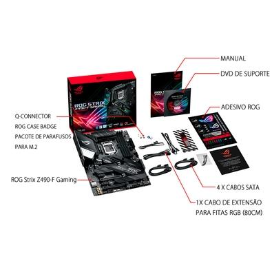 Placa-Mãe Asus ROG Strix Z490-F Gaming, Intel LGA 1200, ATX, DDR4 - ROG STRIX Z490-F GAMING