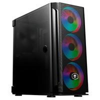 Gabinete Gamer Evolut Mesh Pro, Mid Tower, RGB, com FAN, Lateral em Vidro - EG812