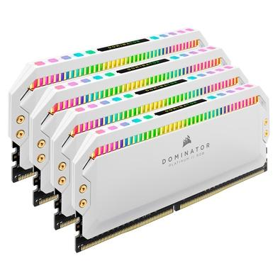 Memória Corsair Dominator Platinum 32GB (4x8GB) 3200Mhz DDR4 C16 Branca - CMT32GX4M4C3200C16W