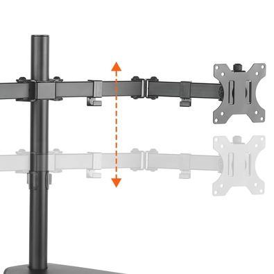 Suporte Duplo de Mesa para Monitores ELG, Giratório, Articulado - T1224N