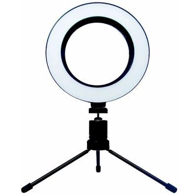 Iluminador LED Ring Light GV Brasil, 6.5´, com Tripé - TP.3801