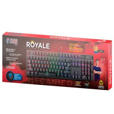 Teclado Mecânico Gamer Flakes Power Royale, LED Rainbow, Switch Outemu Blue, ABNT - FLKTM001