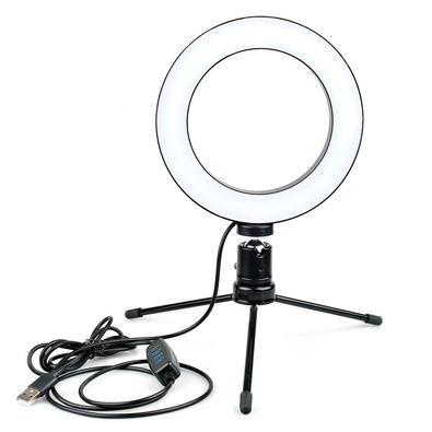 Clip de LED Ring Light Selfie MD9, 15cm, Preto - 9182