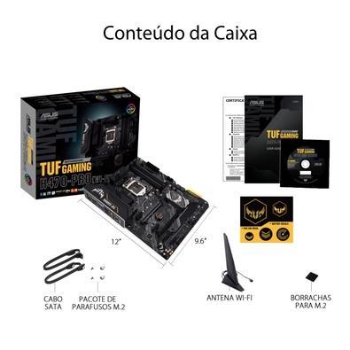 Placa-Mãe Asus Tuf Gaming H470-Pro (Wi-Fi), Intel H470, ATX, DDR4