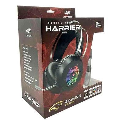 Headset Gamer C3Tech Gaming Harrier, Iluminação Multicores, Drivers 40mm - PH-G330BK