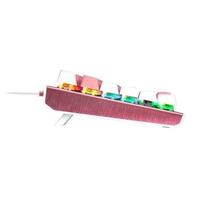 Teclado Mecânico Gamer Cooler Master CK550, Swich Blue, US, Rosa Sakura/Branco  - CK-550-PWTL2-US