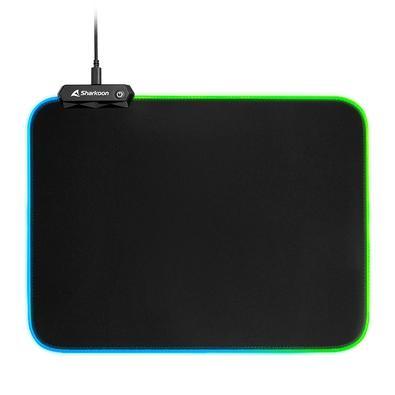 Mousepad Gamer Sharkoon 1337 Gaming Mat V2 360, RGB, Speed, Grande (360x270mm)