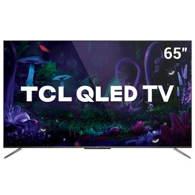 Smart TV TCL 65´ 4K QLED UHD, Dolby Vision, WiFi, Bluetooth, 3x HDMI, 2x USB, HDR10+, Android TV, Google Assistant, Sem Bordas - 65C715