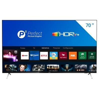 Smart TV Philips 70´, 4K UHD, 3 HDMI, 2 USB, WiFi, Bluetooth, Dolby Atmos - 70PUG7625/78
