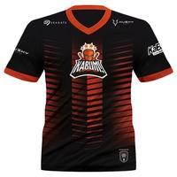 Camiseta Uniforme Oficial KaBuM! e-Sports 2021 Husky Gaming, Preta e Laranja, Dry-Fit, Proteção UV 50+, Tamanho M