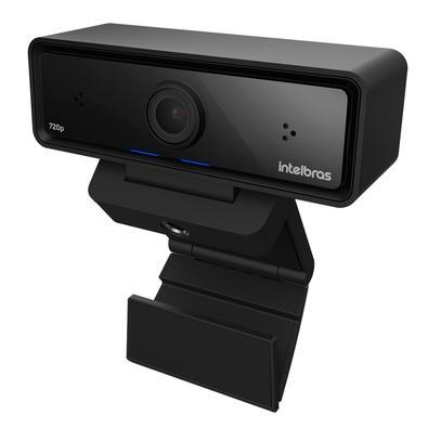 Webcam Intelbras HD, USB 2.0, 2x Microfones Bilaterais, Preto  - CAM-720p