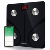 Balança Inteligente Renpho, Bioimpedância, Bluetooth, Preta