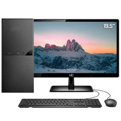 Computador PC Completo Intel Core i3 7ª Geração, Monitor LED 19.5