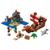 LEGO Minecraft - A Aventura do Barco Pirata, 386 Peças - 21152