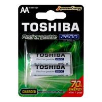 Pilha Recarregável AA Toshiba, 2x Unidades, 2600mAH - 72473