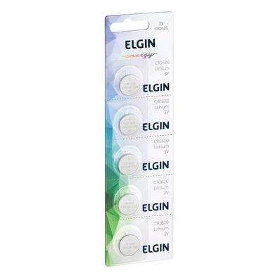 Bateria Litio Elgin Blister CR1620, 5 Unidades - ELE000000082303