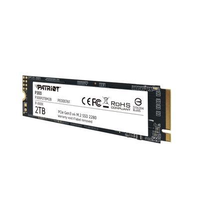 SSD Patriot P300 2TB, M.2 2280 PCIe Gen3x4, Leitura: 2100MB/S e Gravação: 1650MB/s - P300P2TBM28