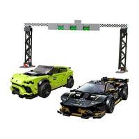 LEGO Speed Champions - Lamborghini Urus ST-X & Lamborghini Huracán Super Trofeo EVO, 663 Peças - 76899
