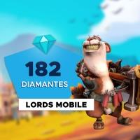 Gift Card Digital Lords Mobile - 182 Diamantes