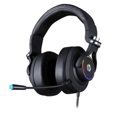 Headset Gamer HP H500 RGB, 7.1 Surround, Conexão P2 e USB, Driver de 50mm,  Preto - 9AJ65AA