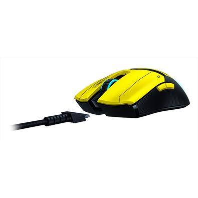 Mouse Gamer Sem Fio Razer Viper Ultimate Cyberpunk 2077 Edition, Razer Chroma, 20000DPI, 8 Botões, Amarelo/Preto - RZ01-03050500-R3M1