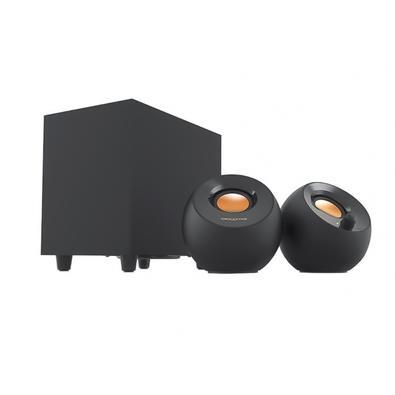Caixa de Som Creative Pebble Plus 2.1, Subwoofer, USB, 4W/5W RMS, Preto - 51MF0480AA000