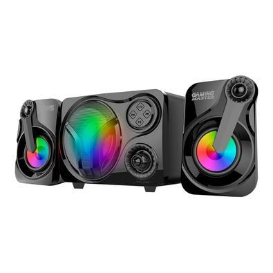 Subwoofer Gamer K-mex Stereo SS9300 11W RMS, Canais 2.1, LED de 7 Cores, Preto - SS9300BT001CB1X