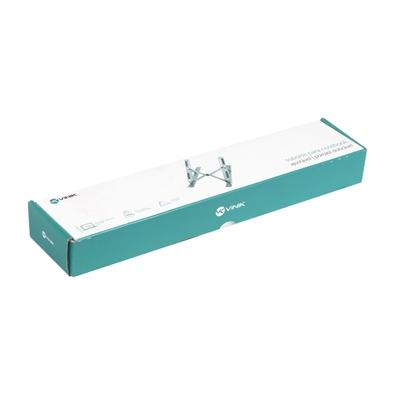 Suporte para Notebook Vinik SN100, Até 15.6, Design Ergonômico Com 6 Ajustes de Altura, Antiderrapante, Portátil e Dobrável, Prata - 36305