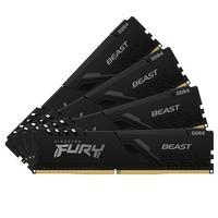 Memória Kingston Fury Beast, 32GB (4x8GB), 3000MHz, DDR4, CL15, Preto - KF430C15BBK4/32
