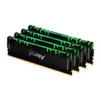 Memória Kingston Fury Renegade, RGB, 32GB (4x8GB), 3200MHz, DDR4, CL16, Preto - KF432C16RBAK4/32