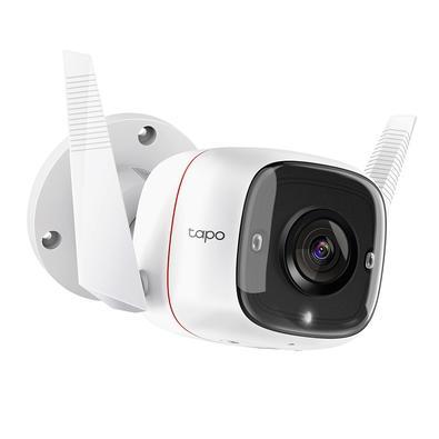 Câmera de Segurança Externa TP-link , Wi-Fi, 3MP, Visão Noturna, Áudio Bidirecional, Branco - TAPO C310