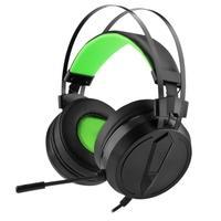 Headset Gamer USB T-Dagger, LED, USB Plug and Play, 53mm, Preto/Verde - T-RGH302