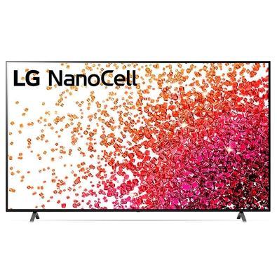 Smart TV 86 4K LG NanoCell, HDMI, Bluetooth, 60Hz, Inteligência Artificial AI ThinQ, Google Alexa, Preto - 86NANO75SPA