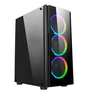 PC Gamer NTC Vulcano X Powered By Asus AMD Ryzen 7 5800X, NVIDIA Geforce RTX 2060, 16GB RAM, SSD 480GB, RGB, Linux, Preto 7304