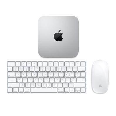 Mac Mini Apple M1, 8GB, SSD 256GB, macOS, Prata - MGNR3BZ/A + Teclado e Mouse Magic Apple para Mac, Bluetooth e Conector Lightning