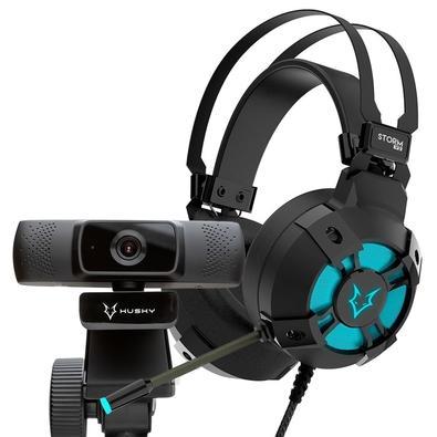 Kit Headset Gamer Husky Storm v2 + Webcam Husky Storm