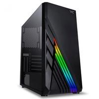 Gabinete Gamer Vinik VX Gaming Scorpius, Mid-Tower, Fita LED RGB, Lateral em Vidro, Preto - 36668